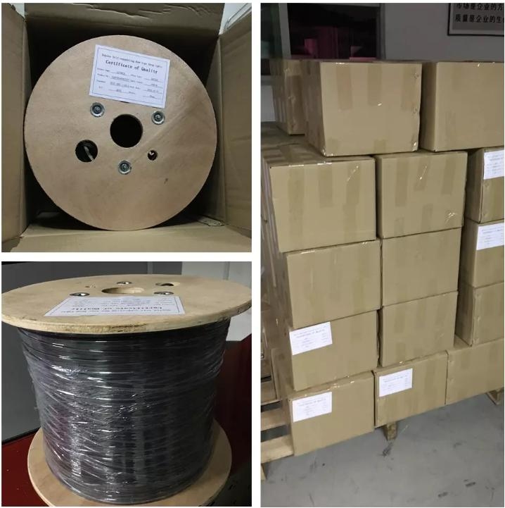 12-24 fibers Outdoor FTTH Drop Cable Steel Wire&FRP Packaging & Shipping