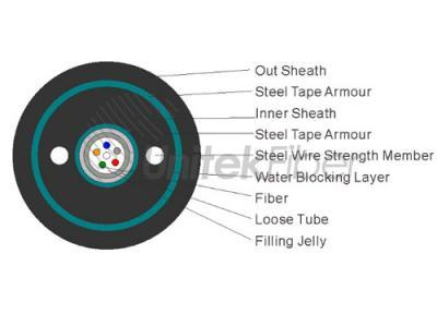 Double Armored and Double Sheathed Central Loose Tube Fiber Cable(GYXTW53)