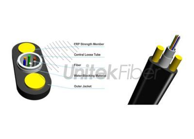 FTTx Central Tube All Dielectric Oval Fiber Optical Cable GYFXTY