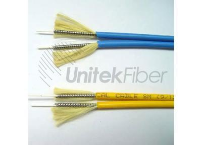 Duplex Zipcord Tight Buffered Armored Fiber Optic Cable LSZH GJSFJV