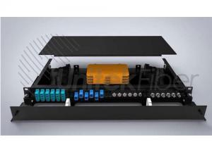 Fixed Rack Mounted Optical Fiber Terminal Box with Transparent Cover