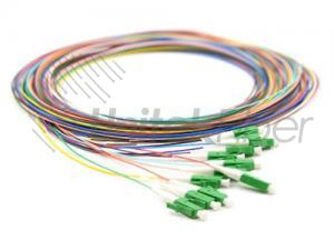 LC 12 Colorful Bulk Pigtails Single Mode Multi Mode Corning Fiber