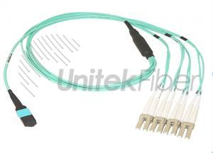 MPO-LC Fiber Optic fanout Patch Cables 12F OM3 with 0.9mm pigtals