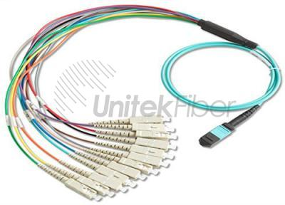 MPO-SC Fiber Optical Branch Patch cord 12 cores SM MM