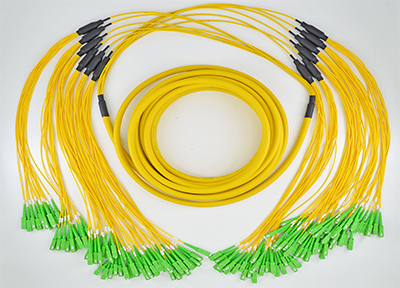 FTTH Cable Fiber Optical Trunk Cable 72 cores Single Mode Yellow OFNP