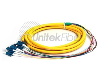 Bulk Fiber Optic Distribution pigtail 12 fibers LC SM 3M Corning OFNR