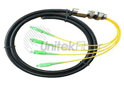 Waterproof Pre-Terminated Fiber Optical Pigtail SC, LC connectors for CATV