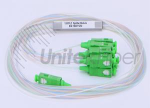 PON Fiber Optic Micro PLC Splitter type 0.9mm with LC SC Terminations