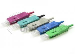 0.9mm Aqua Purple Optical Fiber SC Connector