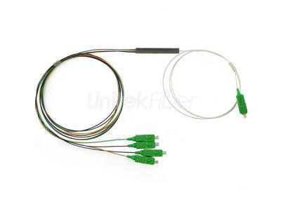 LOT of 10 ** 1x4 PLC pipe-type optical splitter SC-APC or SC-UPC