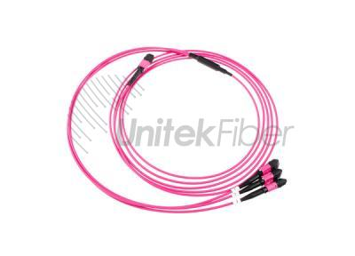 High Density Telecom Application 36 fibers MTP to 12 fibers 3xMTP OM4 Patch Cord
