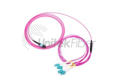 Data Center Cabling MPT/MPO Fiber Optical Jumper OM3 12 Fibers