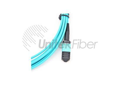 Data Center Cabling MTP MPO Fiber Optical Jumper OM3 12 Fibers Type C