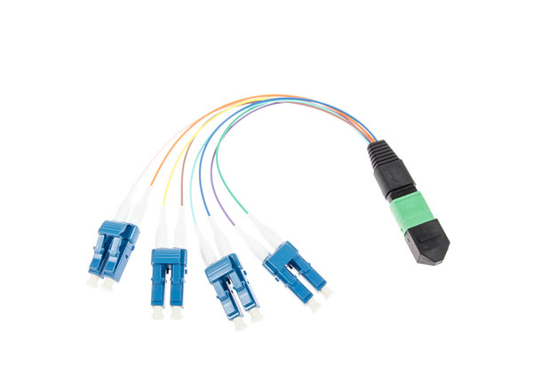Factory OEM 8cores MTP to LC Duplex Pigtail MTP patchcord