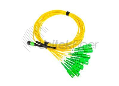 MPO / MTP to SC 12 fibers Optic patch cable SM Bending G657A1