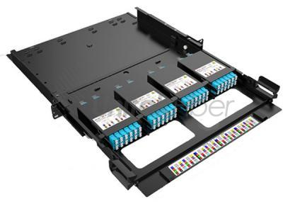 Sliding MPO & MTP Patch Panel with Cabling Management Shelf