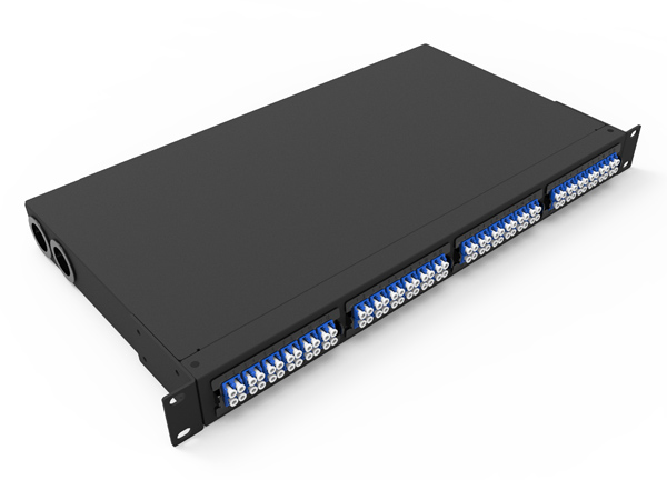 1U Rack Mount Fiber optic MTP MPO Patch Panel 4 Module MTP to 6 x LC Duplex