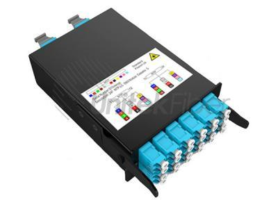 Slid Out MPO MTP Fiber Optic Panel Box LC 96cores for Data Center