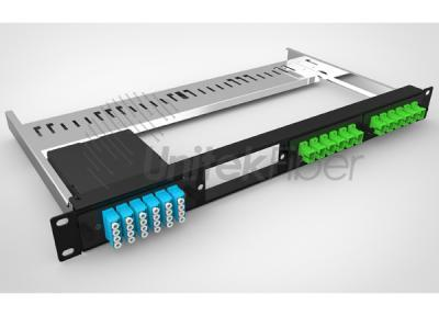 1U Fiber Optical Panel Rack 48 cores with LC Duplex Adpater