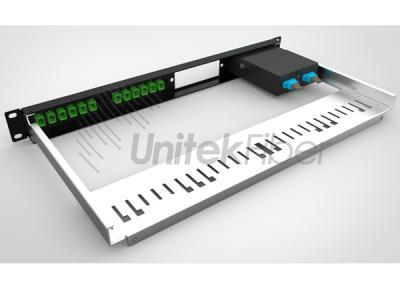 1U Fiber Optical Panel Shelf for MPO LC SC ST FC Ports