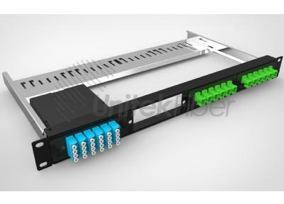 24 ports 1U Fiber Optical Panel Shelf Easy Installation