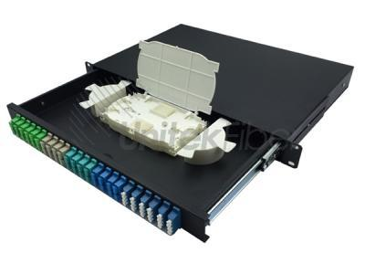 Telecomm FTTH Sliding Fiber Optical Panel Box 24 fibers LC, SC, FC, ST Connectors