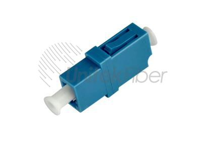 LC/UPC to LC/UPC Fiber Optic Adapter Plastic Simplex Single Mode Blue Color