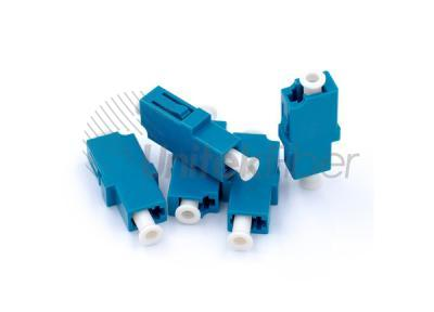 LC-UPC-to-LC-UPC-Fiber-Optic-Adapter-Plastic-Simplex-Single-Mode-Blue-Color-3