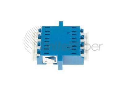 LC to LC Female Fiber Adapter SM Quad with Flange for Data Center Cabling