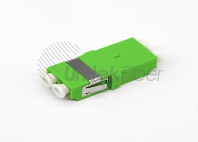 Supply LC/APC DX SM Fiber Optic Mating Sleeve Green 0.2dB with short ear