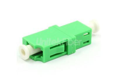 10 PCS LC//APC to LC//APC Duplex Single Mode Flange Plastic Fiber Optic Adapter