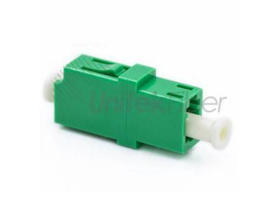 LC/APC to LC/APC Plastic Fiber Adapter SX SM Green with Flange