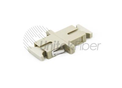 Optic Flange Adapter SC to SC Simplex MM Beige Color Fiber Mating Sleeve