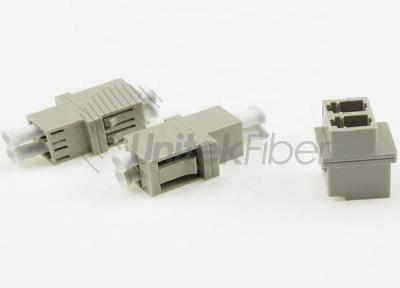 FTTH LC - LC PC Fiber Optical Mating Sleeve DX OM1 0.2dB Beige Color