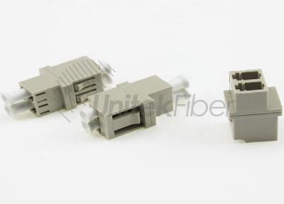 LC to LC PC Optic Fiber Adapter Duplex OM1 Beige Color no Ear