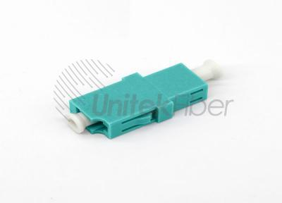 LC/UPC Optical Fiber Adapter / Coupler / Mating Sleeve OM3 Aqua Simplex