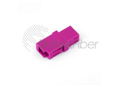 LC/UPC Optical Fiber Adapter / Coupler / Mating Sleeve OM4 SX Erica Violet