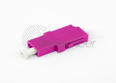 LC/UPC - LC/UPC Optical Fiber Mating Sleeve Simplex MM OM4 Pink