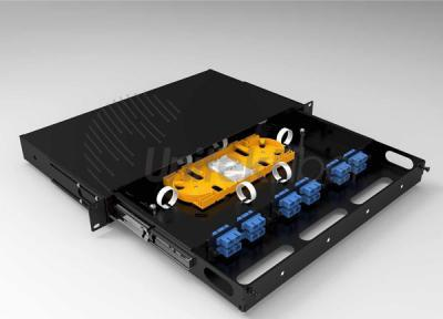 SC LC FC ST 12 port Fiber Optic Patch Panel Sliding Drawer Type