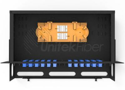 19 Inch 2U Rack Mount Fiber ODF Optical Distribution Frame / Patch Panel 48 Port loaded with SC duplex Adap