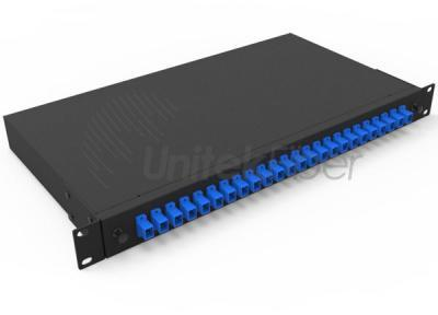 Manufacturing 19 Inch Rack Mount Fiber Optic Patch Panel 12 Ports 24 Cores SC