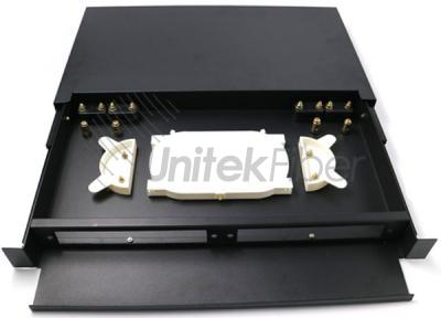 Sliding Rail Fiber Optic Patch Panel Rack Mounted ODF Box for Network System