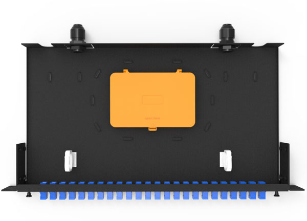 Supply 19 inch Sliding out Fiber Optic Patch Panel 12,24,48 Ports for Fiber Cable Management