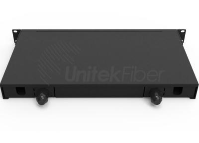 Supply 1U Fiber Optic Panel Shelf Slid out 12,24,48 Ports for Fiber Cable Management