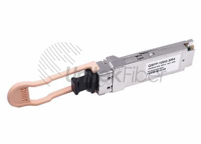 100G QSFP28 SR4 Optical Transceiver 100m 850nm MPO Connector