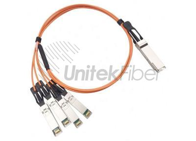 AOC Active Optical Cable 40G QSFP to-4 x 10G SFP+ Breakout AOC Cable 5M
