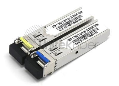 WDM 1.25G SFP Optical Transceiver Wave Length T1550nm R1310nm Transmission Distance 20KM