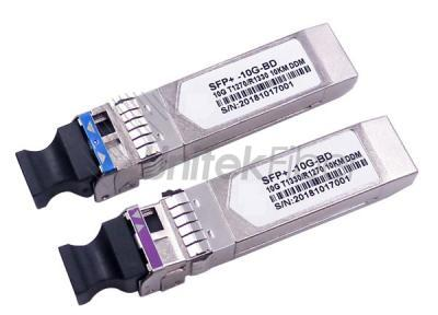 10G SFP+ BIDI Optical Transceiver LC Simplex TX1270nm RX1330nm 10km