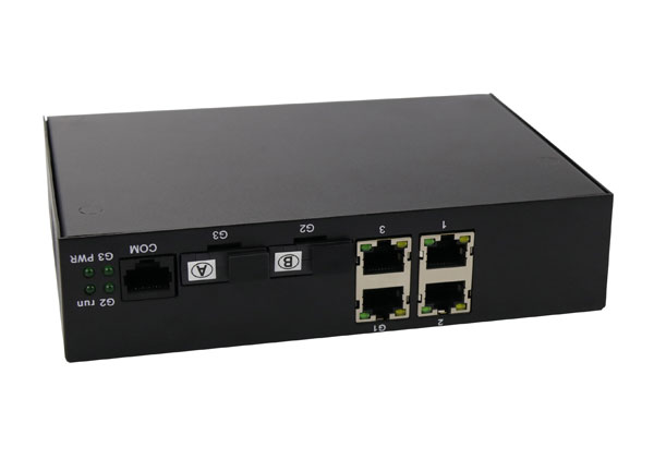Network OEM Ethernet Fiber Switch 4 Ports with 2x1000m Fiber Optical interface