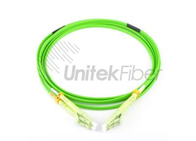 LC-LC Fiber Optic Patch cord OM5 Duplex Green 1m